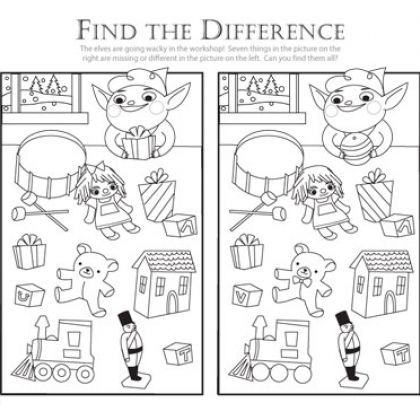 Find the Difference: Help the Elf! (Printable Christmas Activity for Kids)