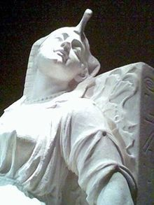 The Death of Cleopatra, by Edmonia Lewis, detail, marble, 1876, collection of the Smithsonian American Art Museum - Wikipedia