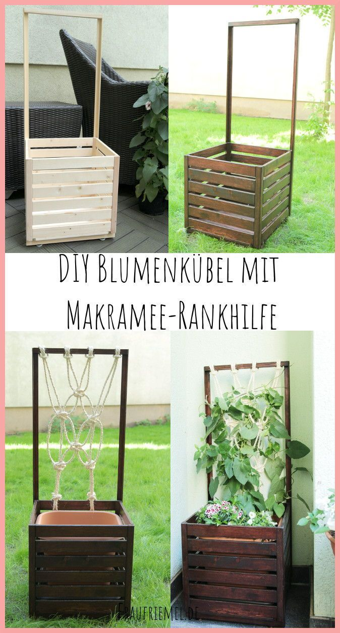 Balkon Ideen Blumenkasten Selber Bauen Mit Rankhilfe Aus Makramee