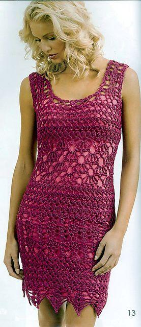 iNSPIRATION ONLY, pattern out of print Ravelry: Sleeveless Dress pattern by Doris Chan