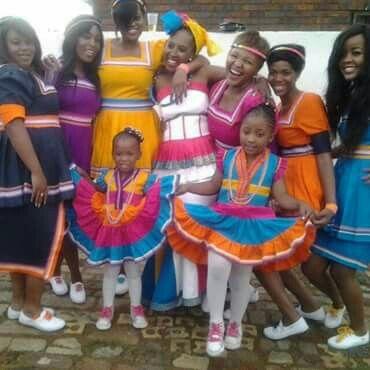 My friend Mpumi *in white dress* & her bridesmaids wearing her husbands Sepedi regalia#South Africa wedding season