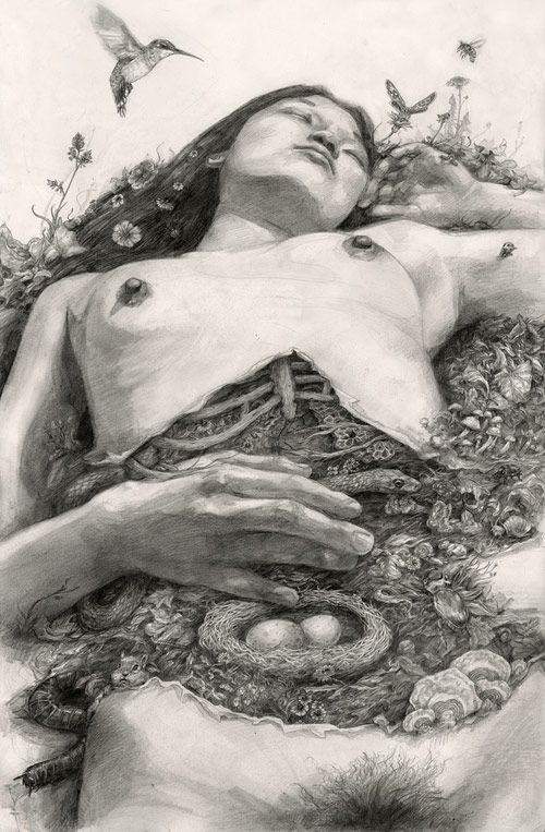 Drawings by artist T. Dylan Moore