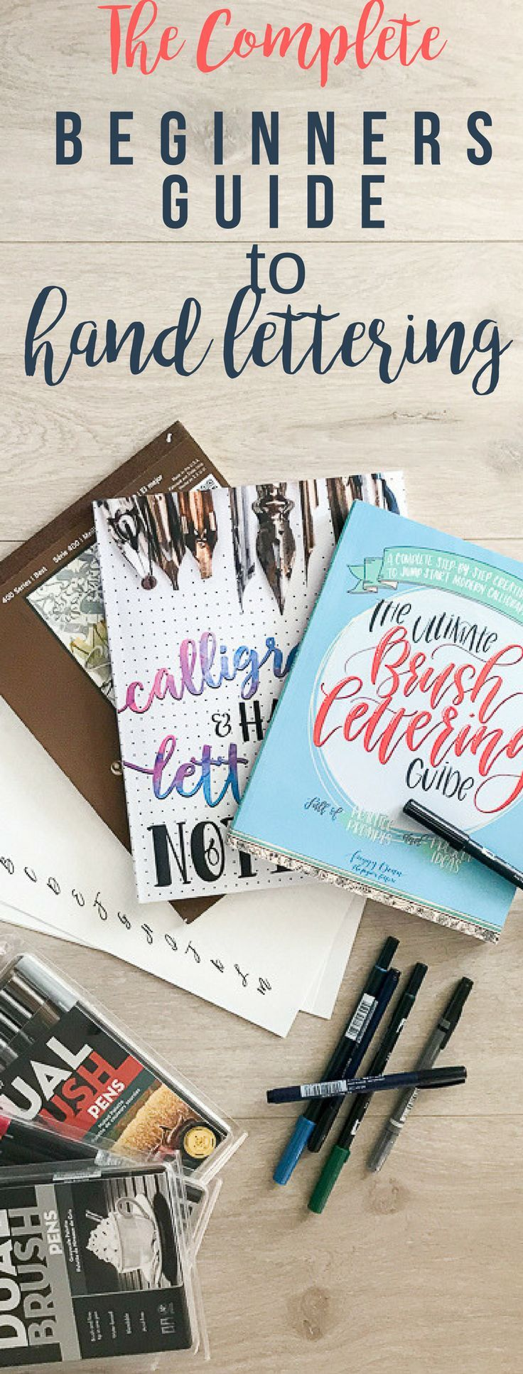 Discover this complete beginners guide to handlettering. Start this new hobby today with minimal investment. #handlettering #script #scriptwriting
