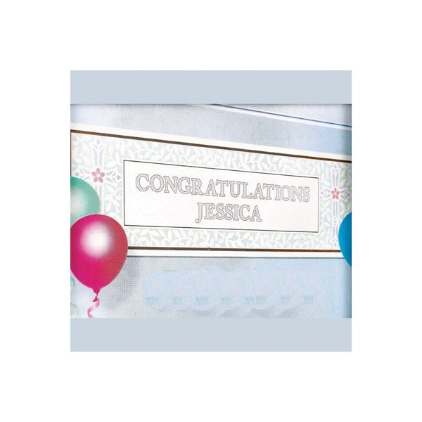 This large banner can be personalised to suit any religious occassion. With a wide blue floral border and a large open white space for you to personalise your own message. Each banner is over 5 foot wide and includes 120 letter stickers. Ideal for ‪#‎Christenings‬, ‪#‎Communions‬, Confirmations, etc.