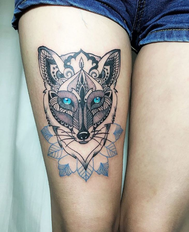Upper Thigh Tattoo Templates: 39 Best Tribal Thigh Tattoos Images On Pinterest