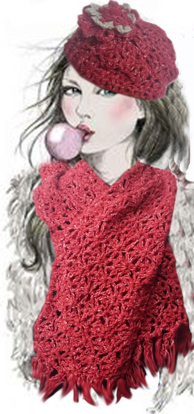 OFERTA COMBO CROCHET 25% DESCUENTO, compuesto por Bufanda y gorro coloridos y realizados a mano, al crochet. Abrigo y suavidad en una pieza única. Bufanda: 23x140.