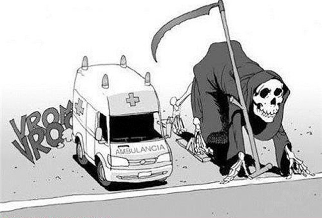 Death vs ambulance (popular pic today)