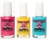Nail Polish Piggy Paint is a non-toxic, low odor, kid-friendly nail polish. It's safe for all ages and a great alternative to solvent-based nail polishes.