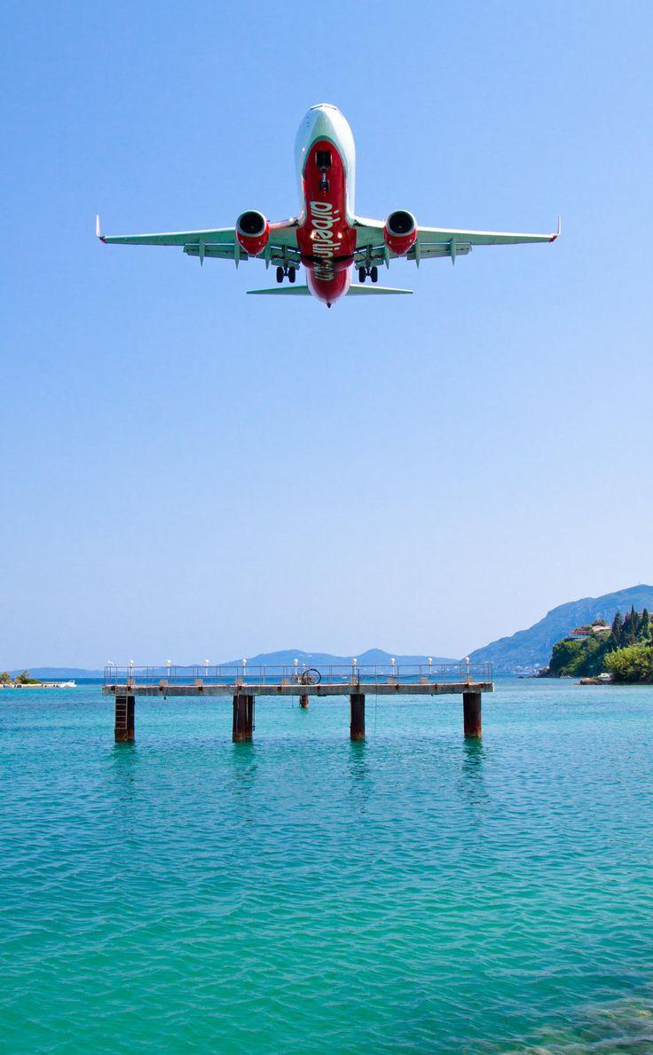 Flying over Corfu, Greece