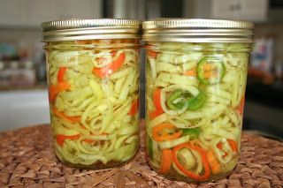 I have searched the internet on how to pickle banana peppers and finally found something that seemed easy enough and did not require a canner. It came from a discussion forum at http://www.discusscooking.com/. Someone posted their recipe 'Connie's Pickled Banana Peppers'…so, thanks Connie! I will not know if they actually turned out for 2 weeks,Continue Reading