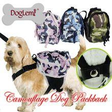 2016 Nuttig Hond Rugzak Camouflage Hond Zakken Cool Teddy tassen Met S L size…