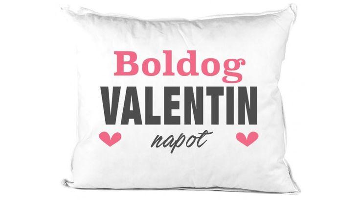 Boldog Valentin napot párna szerelmednek.