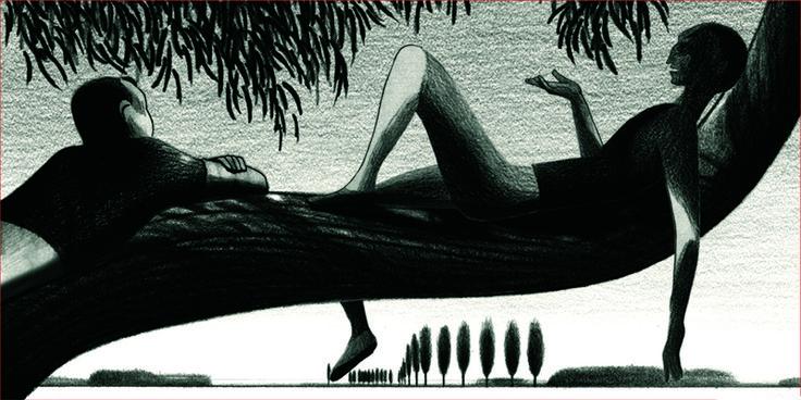 Lorenzo Mattotti - Peur du Noir (Portfolio), 2008 - Sérigraphie 100 exemplaires numérotés et signés, 48cm x 97 cm Réf. : lm048 - 180 €