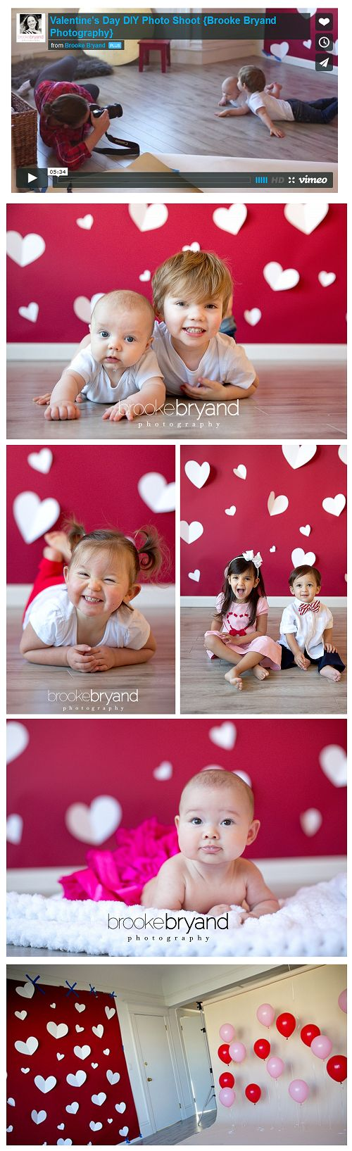 Super cute Valentine's photo shoot.. The video is a great resource as to how she setup the set.. Thank you © 2015 Brooke Bryand Photography   San Francisco Newborn and Family Portrait Photographer