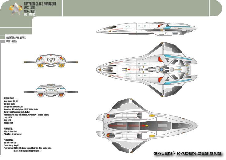 Gryphon class runabout on star trek shuttlecraft for Wohnung star trek design