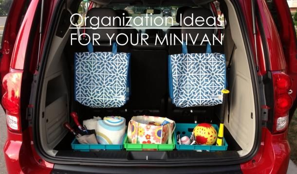 Make your minivan your home on the road with these tips to keep everyone organized.