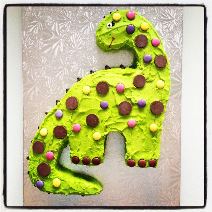 Brontosaurus dinosaur cake. By The Cake Spot www.Facebook.com/CakeSpotYEG