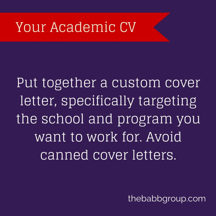 15 best Your Academic CV images on Pinterest Teach online, Cover - what do i put in a cover letter