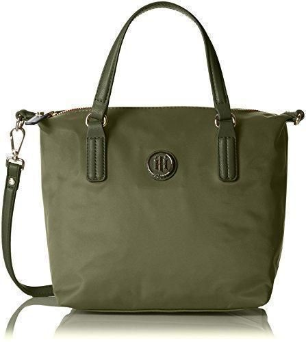 Oferta: 69.9€. Comprar Ofertas de Tommy HilfigerPOPPY SMALL TOTE - Bolso bandolera Mujer , color Verde, talla 22x23x15 cm (B x H x T) barato. ¡Mira las ofertas!