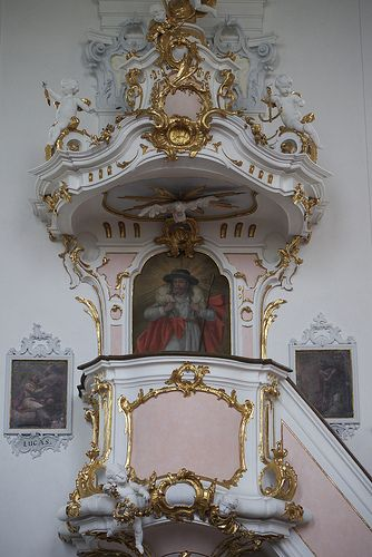 Pulpit - Kloster Wessobrun, Oberbayern
