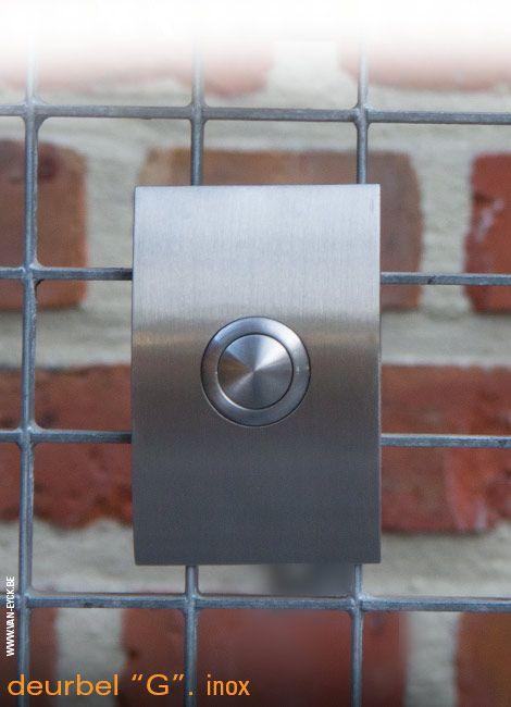 Elipsvormige deurbel in inox (RVS)
