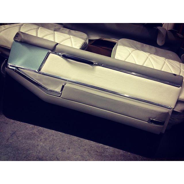 Completed door for the '64 Cadillac.  #fesler #feslerbuilt #feslernation #cadillac #64 #sedan #carporn #carsofinstagram #instagram #instagood #september #tgif #custom #sick #badass #feslerinterior