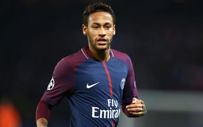 Download wallpapers Neymar Jr, 4k, Paris Saint-Germain, PSG, France, La Liga, portrait, football, Paris, Neymar