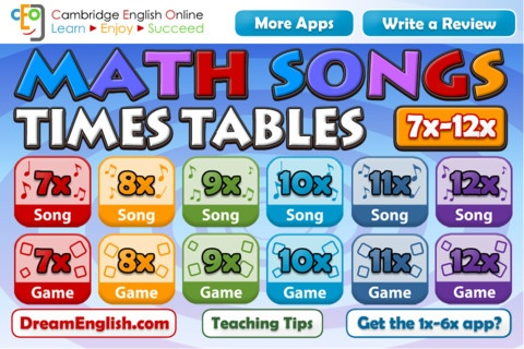 Math Times Tables Fun Learning by Learning Apps
