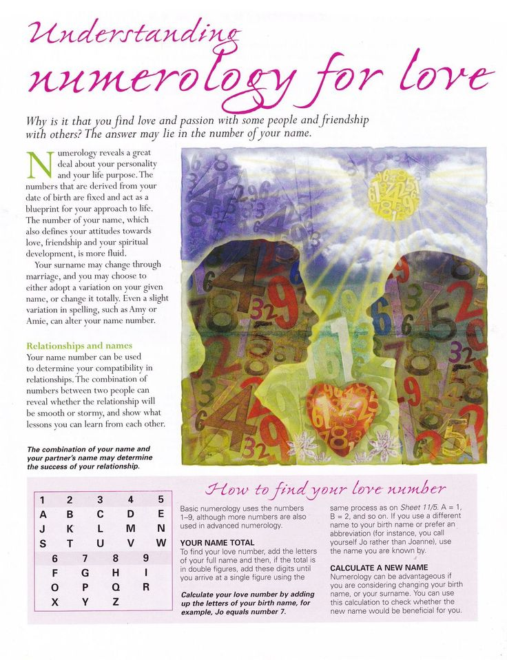 Best Numerologia Images On   Numerology Chart