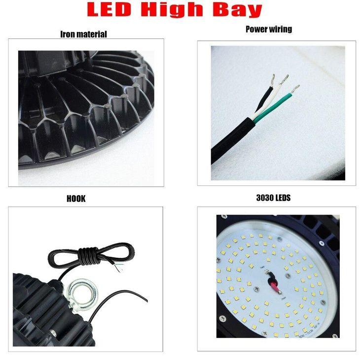 Led Light High Bay 60w 5500k Dimmable 110v 277v Ip65 400w Hps