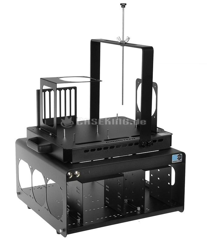 DimasTech Bench Table EasyHard V2.5 - graphite black. Extreme-Overclocking und die damit verbundene Jagd nach Bench-Rekorden gehört zu solch einer speziellen Anwendung, wo die professionellsten Lösungen von kleinen Unternehmen stammen, die von Benchern gegründet wurden. DimasTech ist hierbei ein führender Anbieter und genießt in der OC-Community einen hervorragenden Ruf.