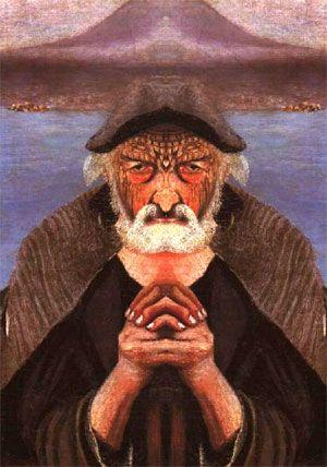 Old Fisherman - mirrored 01Tivadar Kosztka Csontvary