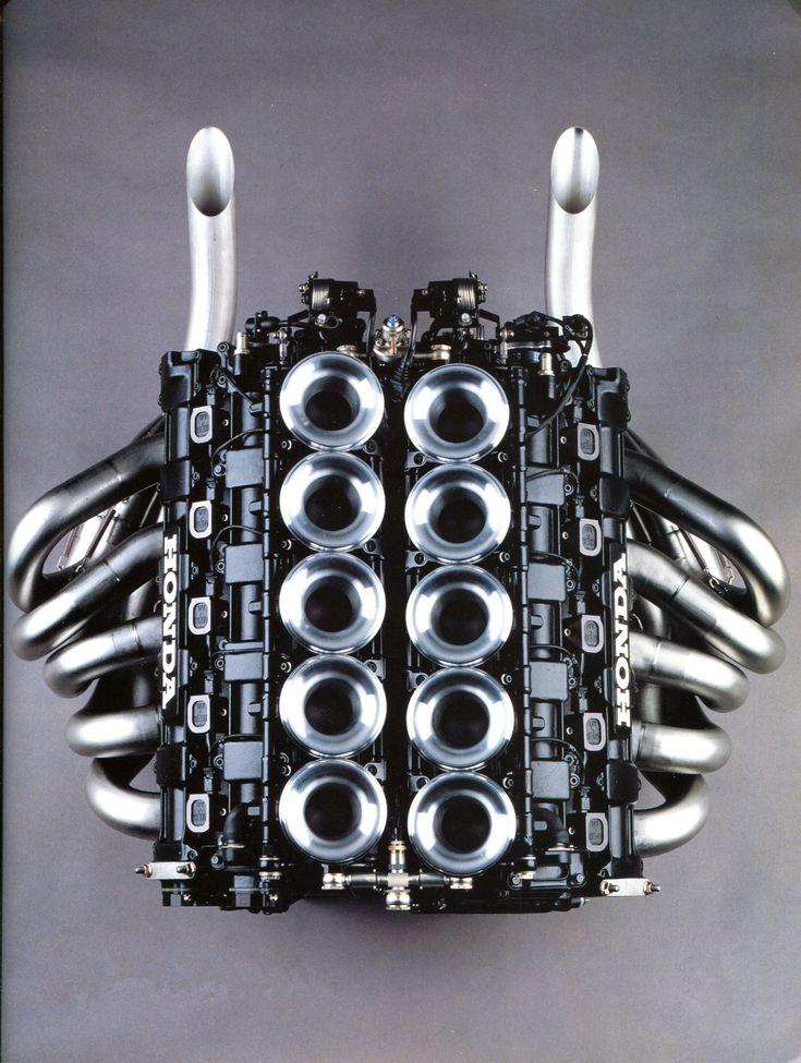 """Honda V10 """"RA109E"""" de formule 1 - Les couleurs du Japon - Automobiles Classiques février / mars 1992."""