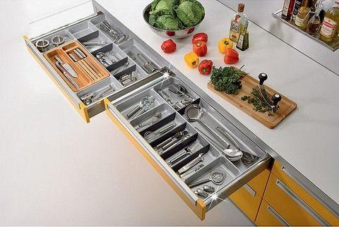 удобные кухонные ящики и фурнитура для них