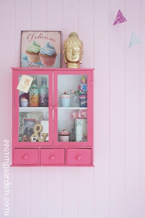 pink cabinet