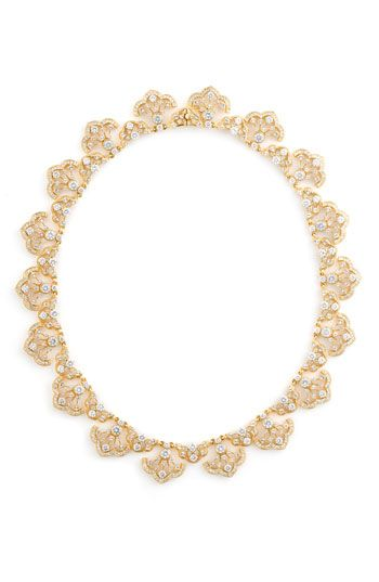 Nadri Scalloped Crystal Necklace Girl Accessory