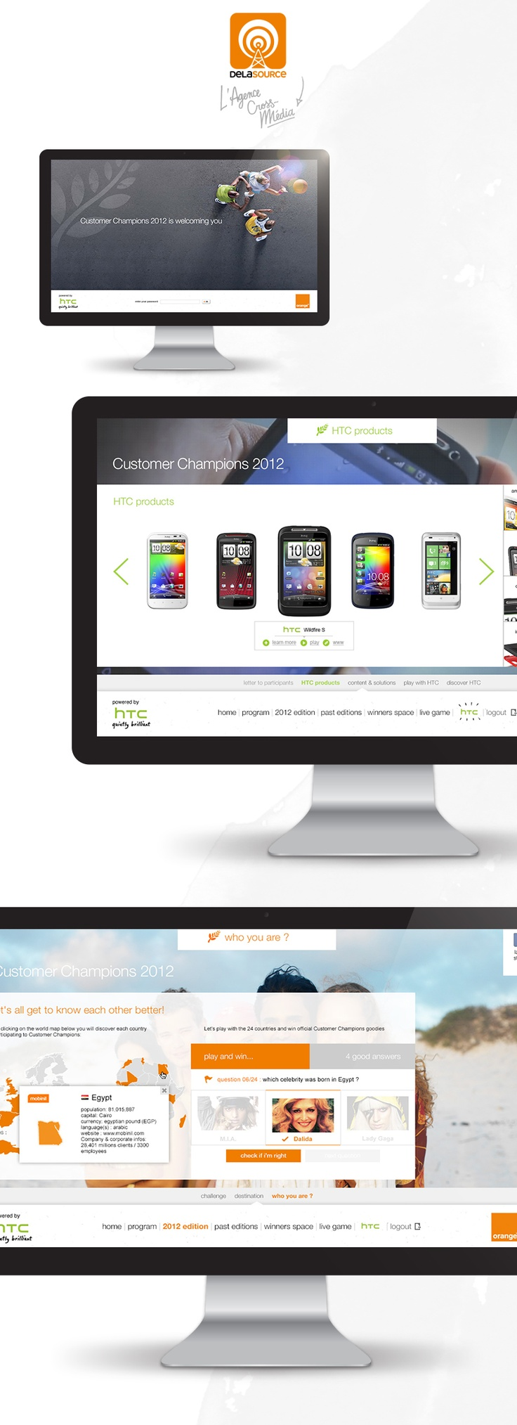 Customer Champions website: designed and powered by © Delasource (Orange group)