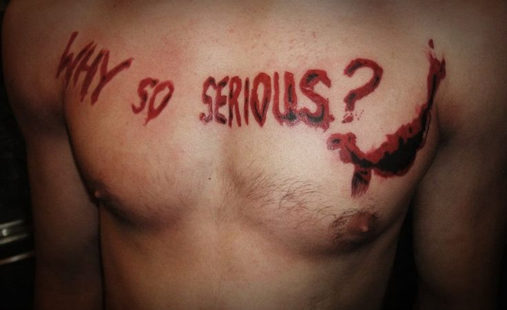 Why so serious tattoo by KubaCh on deviantART