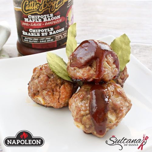 Maple Garlic Sausage Meatballs