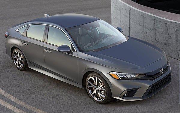 2022 Honda Civic Sedan New Illustration Honda Civic Sedan Civic Sedan Honda Civic