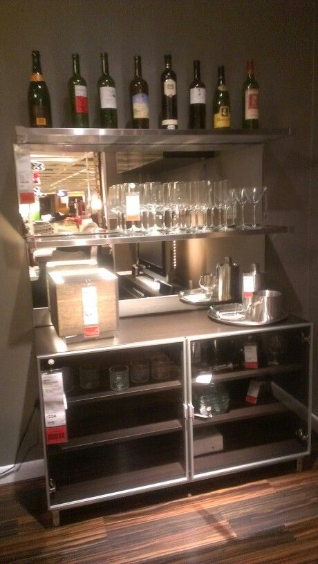 Ikea Bar Setup This Would Be Cool For My Father In Law When We Redo His Livingroom Kitchen Someday