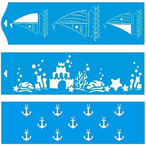 28cm x 8cm (Set di 3) Stencil di Plastica per Decorazione Parete Muro Tessuto Maglietta Aerografo Progettazione Disegno Grafica - Litoarte http://www.amazon.it/dp/B00PME8UWE/ref=cm_sw_r_pi_dp_iZVXwb16G1A5V