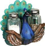 Peacock Salt and Pepper Shaker Set $16.95 www.allthingspeacock.com