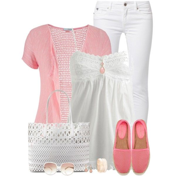 Pink Espadrilles by daiscat on Polyvore featuring Wet Seal, maurices, Kaporal, Rebecca Minkoff, DKNY, MANGO and 1928