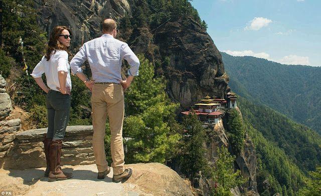 #RoyalVisitBhutan La Cour Royale Anglaise: La randonnée pour le monastère bouddhiste Taktshang et le diner d aurevoir