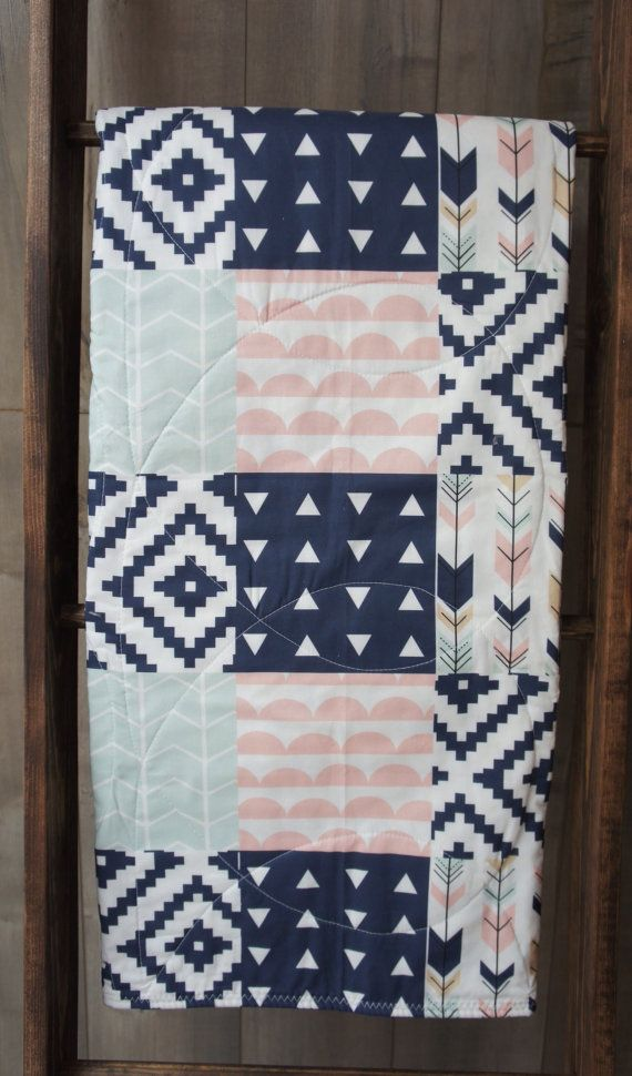 Baby  Girl Quilt  Baby/Toddler Blanket  Woodland  by Babylooms