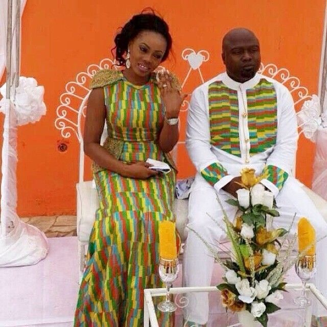 lovely couples brides outfit made by wendy owusu. Black Bedroom Furniture Sets. Home Design Ideas