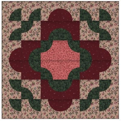 This quilt block is made with my version of Drunkard Path blocks. Her name is Adrianna after one of my granddaughters