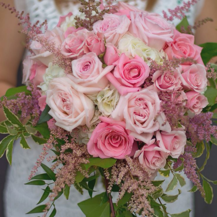 Hydrangea roses and astilbe