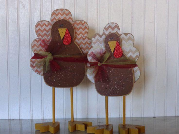 Thanksgiving Decor- Fall Decor- Turkey decor- Thanksgiving Decoration- Centerpiece-Standing Turkeys , #CenterpieceStand…